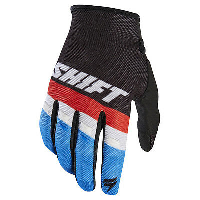 2017 Shift MX Youth WHIT3 Air Tarmac Gloves - Black Boys Motocross Offroad Dirt