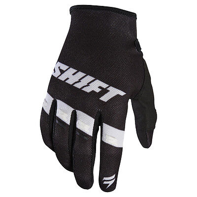 2017 Shift MX Mens WHIT3 Air Tarmac Gloves - Black/White Motocross Offroad Trail