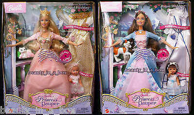 Erika Barbie Doll Anneliese Royal Wedding Giftset Princess and the Pauper Kelly