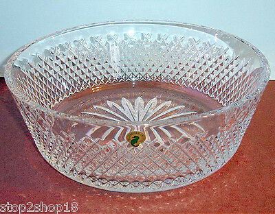 "Waterford ALANA Crystal 12"" Bowl Large Made in Ireland #150425 Retail $495 New"