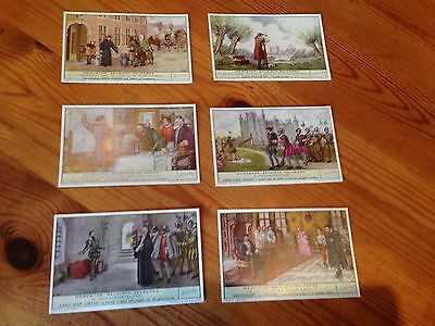Set of 6 Liebig trading cards - on cartographer Gerardus Mercator - in Dutch