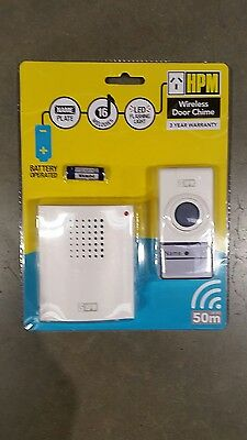 Hpm D642/01 Door Bell Chime/ 1 Receiver/wireless/ 50M Range/ 16 Melodies