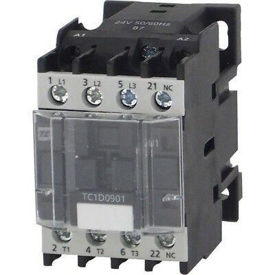 Europa Components TC1-D0910P7 Contactor 9A 4KW NO Auxilliary 230V