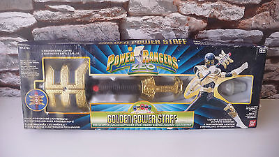 Classic 1997 Boxed : Power Rangers Zeo Golden Power Staff Toy - Rare, Working.