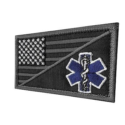 Paramedic EMS EMT Star of Life subdued ACU tactical aufnäher hook-and-loop patch