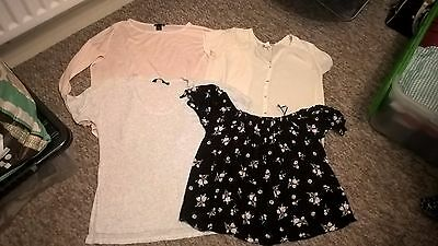 4 X Ladies size 8 Tops By H&M + New Look