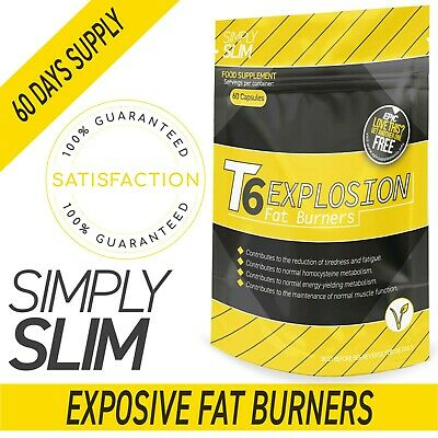 SimplySimple T6 Fat Burners Slimming - Diet - Weight Loss Pills Tablets 2 Months