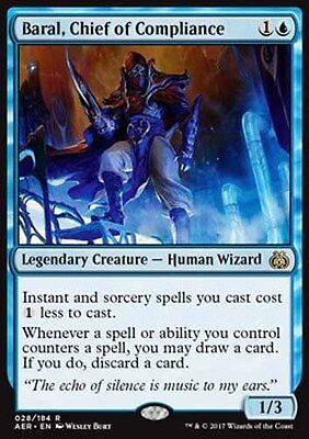 *Magic MtG: Baral, Chief of Compliance (Rare) - AETHER REVOLT *TOP*