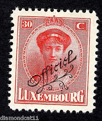 1922 Luxembourg 30c Red OPTD OFFICIEL SG O258 MOUNTED MINT R24612