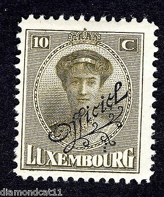 1922 Luxembourg 10c Green OPTD OFFICIEL SG O272 MOUNTED MINT R24621
