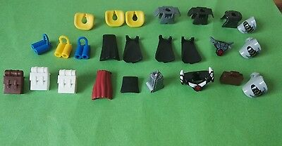 25 LEGO accessories for minifigures STAR WARS, NINJAGO, CITY, CASTLE capes, bags