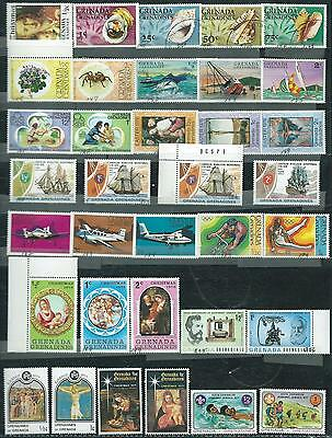 Grenada-Grenadines - 49 stamps mixed - Years 1975 to 1991