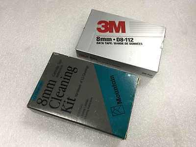 NEW 8mm Cleaning Cartridges and 1 Free 3m 8mm Data Tape Cartridge New sealed
