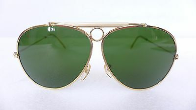 RAY BAN AVIATOR SHOOTER VINTAGE 1970 SUNGLASSES 70s Antonello Venditti dorate