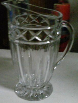 "Crystal Pitcher 10"" tall"