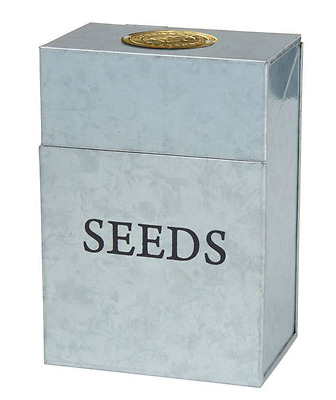 New Stephanie Alexander Galvanised Seed Storage Tin Garden Gardening Store Seeds
