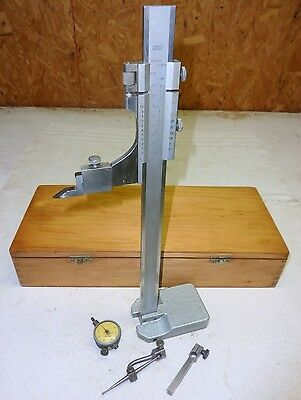 "Height Gage 12"" Machinist Inspection w/ Dial Indicator Gauge Set"