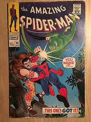 Amazing Spider-man #49 4.0 VG 1967 Early Appearance of Kraven