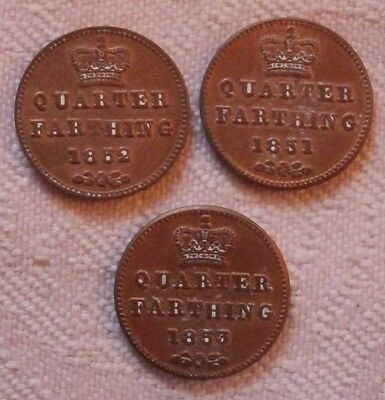 Quarter Farthings 1851-3 copies, (FREE UK POSTAGE AVAILABLE)