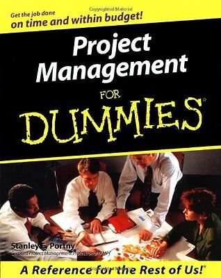 Project Management for Dummies (US Edition) By Stanley E. Portny. 9780764552830