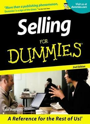 Selling For Dummies By Tom Hopkins. 9780764553639