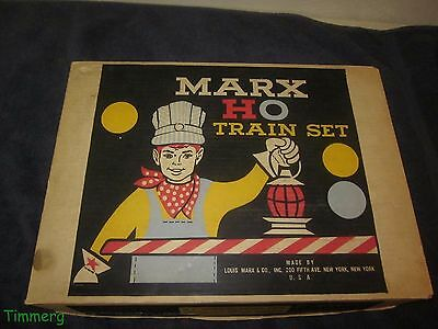 Vintage Marx 79542 HO Scale Steam Freight Set Original Box Only