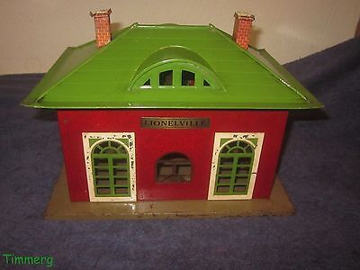 Lionel 126 Lionelville Tinplate Lighted Station Standard & O with Crackle Finish