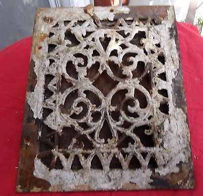 Antique Cast Iron Wall Register Grate W/Damper Salvage Architectural Works.