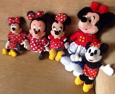 Disney Minnie Mouse Collectable Soft Toys X 5