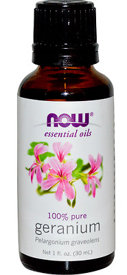 New Now Foods Organic Essential Oils Aromatherapy Purifying Pure Geranium Care