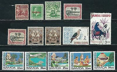 Samoa -  14 stamps mixed - Years 1921 to 1981