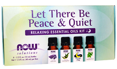 New Now Foods Organic Essential Oils Aromatherapy Purifying Pure Relaxing Kit