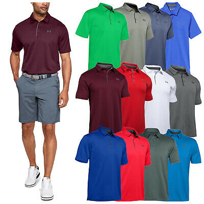 Under Armour Mens Heatgear Tech Golf Polo Shirt New Ua Short Sleeve T-Shirt 2017