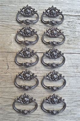 A set of 10 French Rococo cast iron drawer pull furniture handles AL18