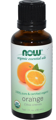 New Now Foods Organic Essential Oils Aromatherapy Purifying Pure Orange Daily