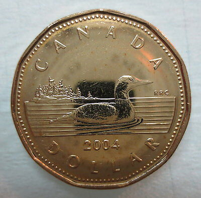 Canada 2004 Loonie Brilliant Uncirculated Dollar Coin