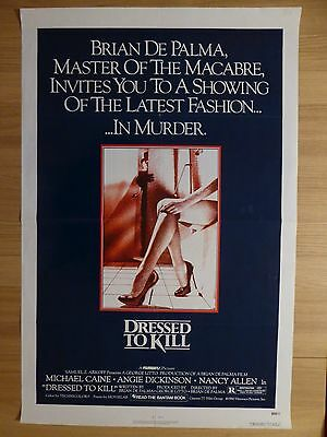 DRESSED TO KILL (1980) - original US 1 Sheet film/movie poster, crime thriller
