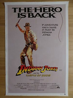 INDIANA JONES AND THE TEMPLE OF DOOM (1984) original Aust. 1 Sheet movie poster