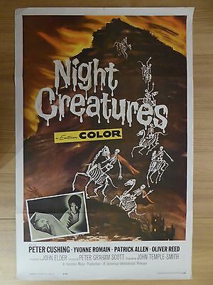 NIGHT CREATURES (1962) - original US 1 Sheet film/movie poster, Hammer Horror