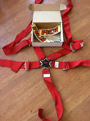 "RCI 5-Point 3"" Racing Safety Harness Red 9210CB NEW"
