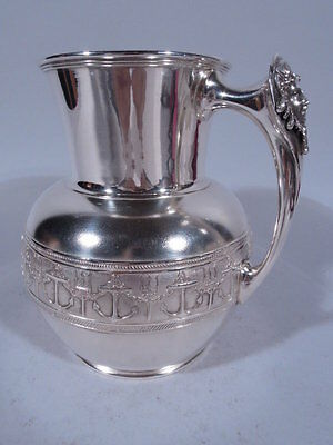 Gorham Water Pitcher - Antique Nautical Anchor - American Sterling Silver - 1877