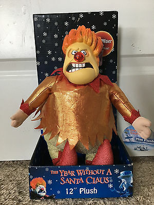 YEAR WITHOUT A SANTA CLAUS Plush HEAT MISER Christmas Character NECA Nose Lights