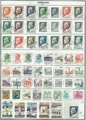 Yugoslavia - 73 stamps mixed....Years 1967 to 1986