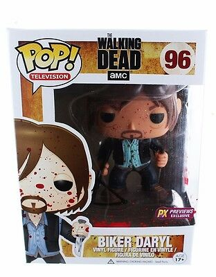 Funko Pop! The Walking Dead Bloody Version Biker Daryl Dixon Vinyl Figure