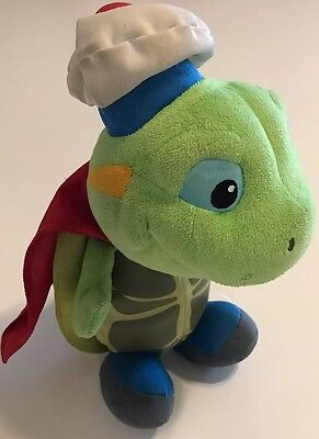 Wonder Pets Tuck The Turtle Plush Stuffed Animal With Red Cape Fisher Price 2008