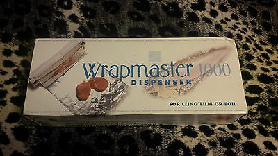 """Wrapmaster 1000 Dispenser 12"""" Plus 1 Roll Of Clingfilm Kitchen Food"""