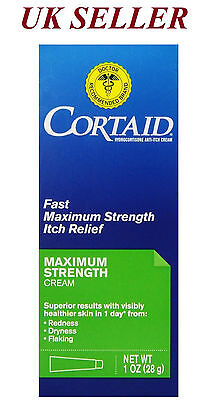 Cortaid Maximum Strength Itch Relief Cream Redness/Drying/Itching/Anti Flaking
