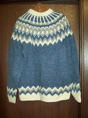 Vintage Nordic Hand Knitted WOOL Seater Handknitting Association of Iceland