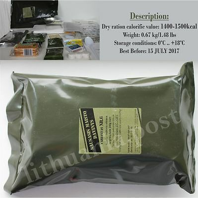 Food Ration MILITARY ARMY Daily Pack Lithuanian MRE Emergency Set Combat