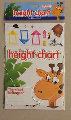 Height Chart With Over 40 Stickers Childrens Fun & Educational Arrow Stickers.